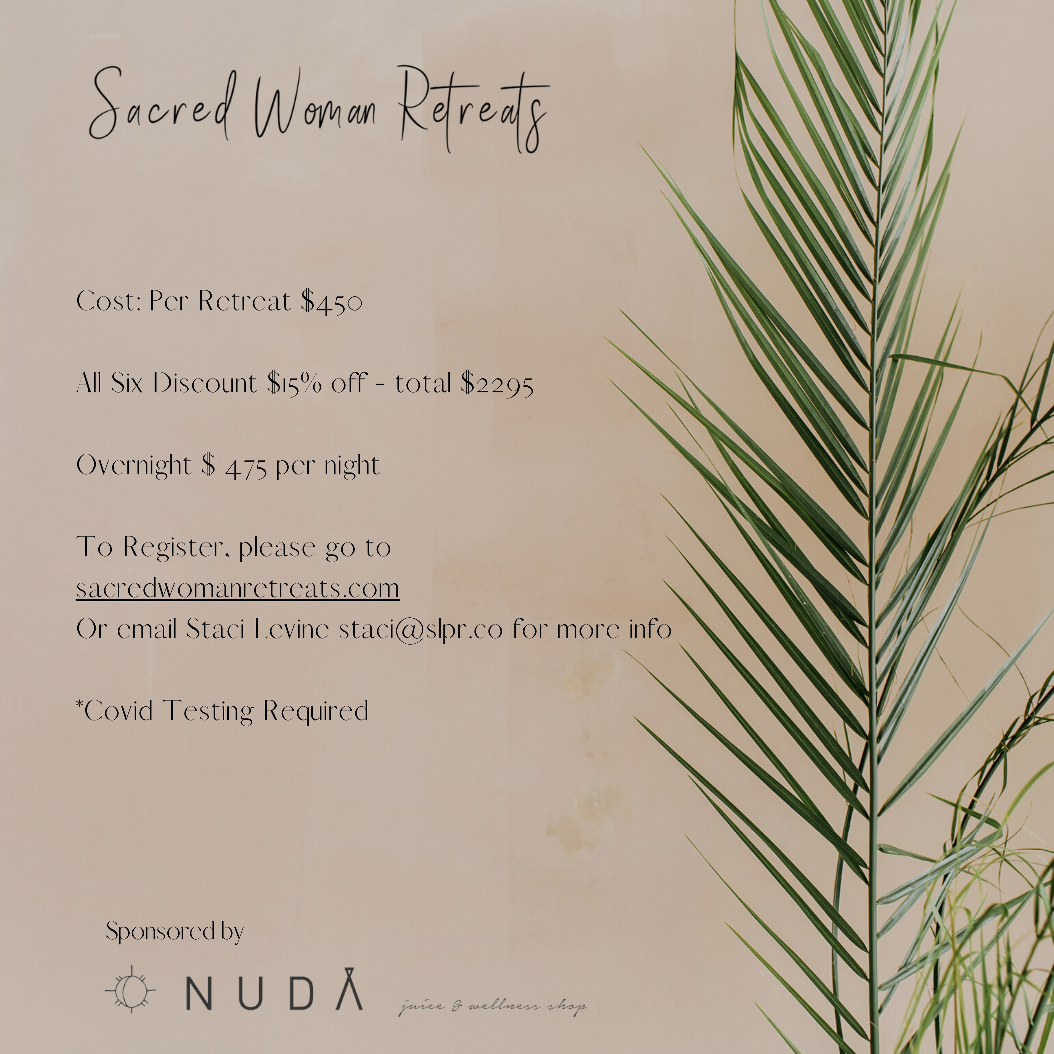 Women's Sacred Retreat | Bundle Discount