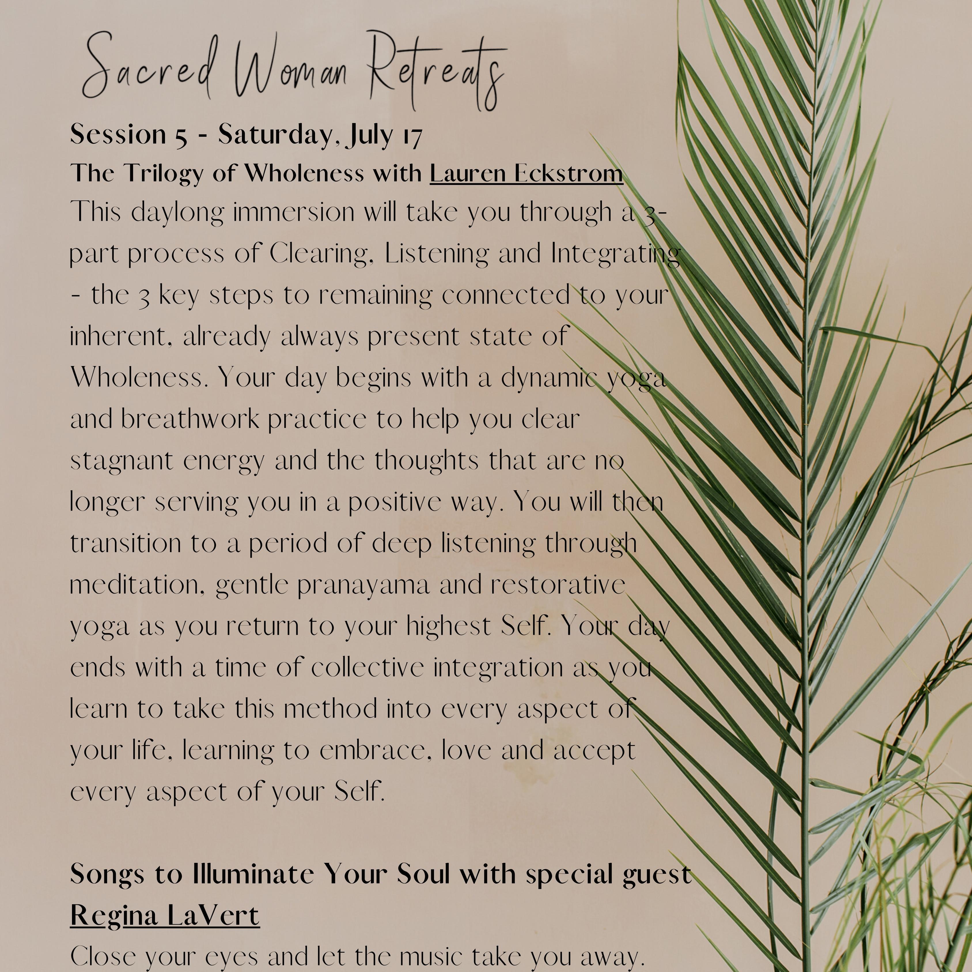 Women's Sacred Retreat | Day 5