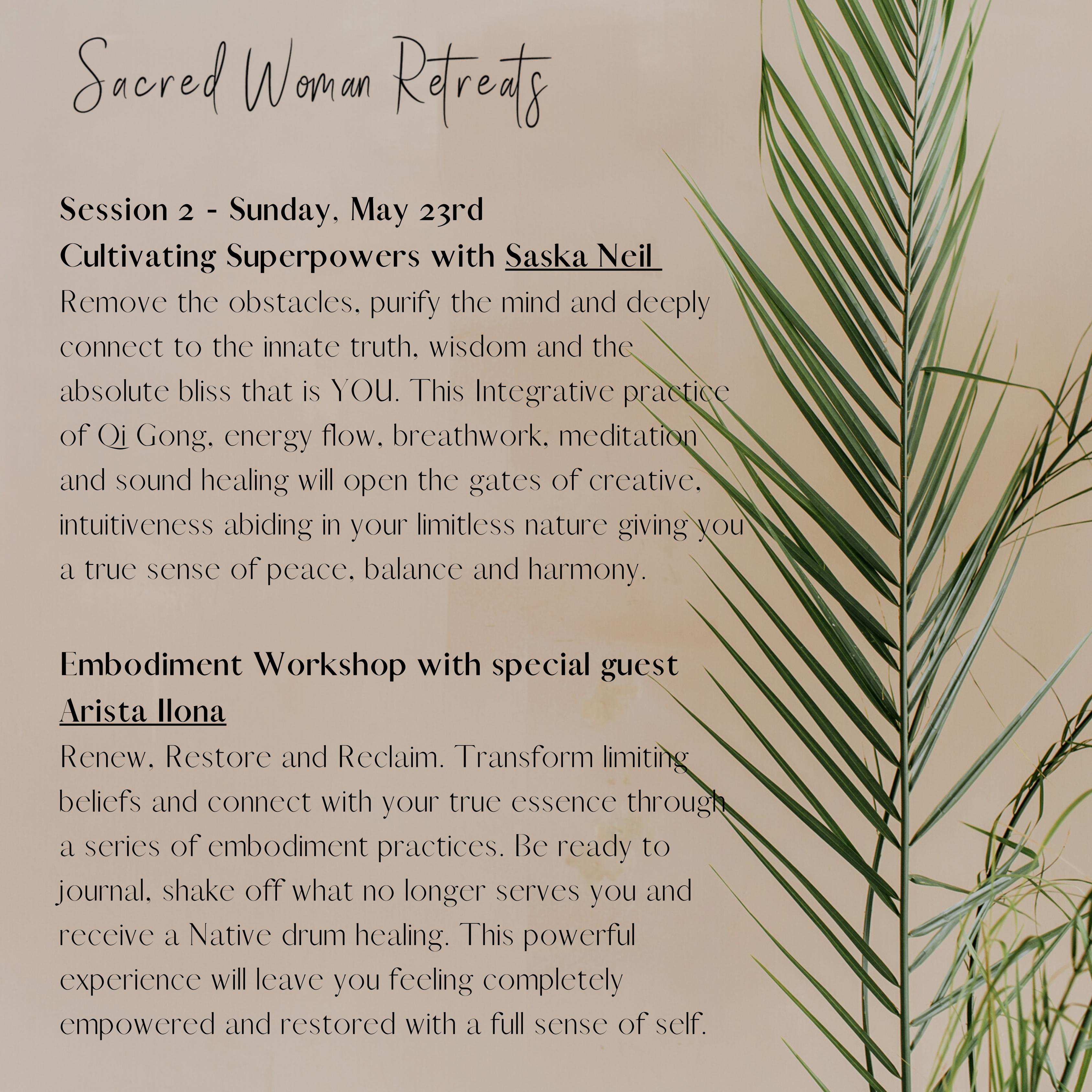 Women's Sacred Retreat | Day 2