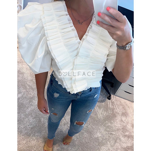 Arabella Detailed White Top