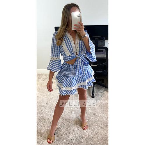 KELLY Blue & White Dress