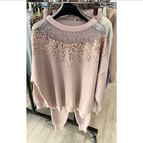 Maisie Camel Sparkle Loungewear