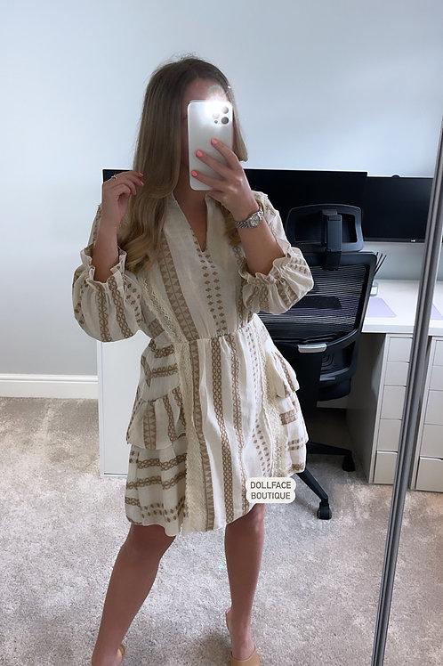HAILEY  Frill Cloth Dress - 2 Colours