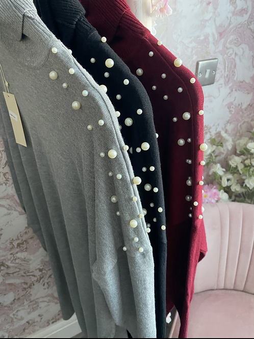 Kiki Pearl Roll Neck Jumper - 3 Colours