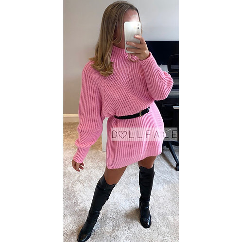 Mel Chunky Knit Jumper Dresses - 3 Colours