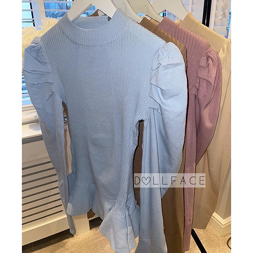 SASKIA Peplum Loungewear- 8 Colours