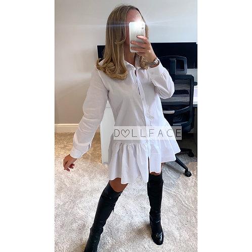 Cassie Peplum Shirt Dress