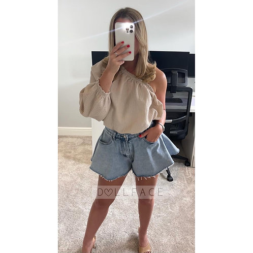 SADIE Off Shoulder Cheesecloth Top -  3 Colours