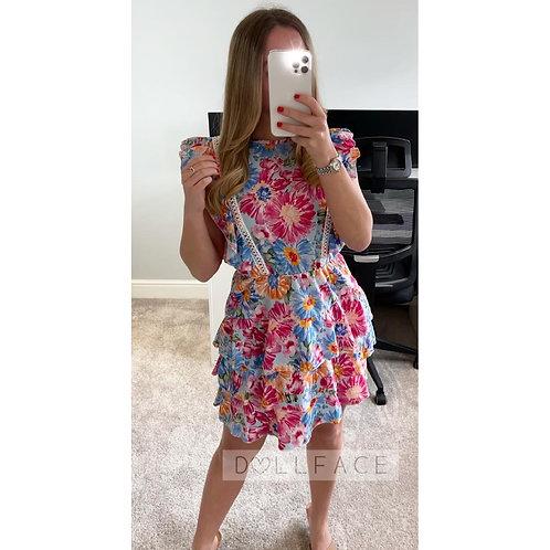 LAYLA Floral Open Back Dress - 2 Colours