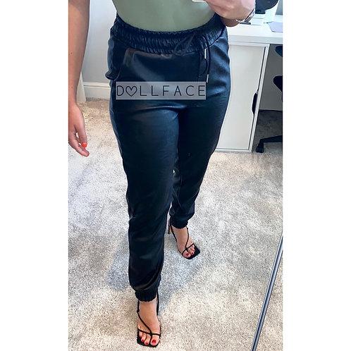Lottie Leather Look Joggers