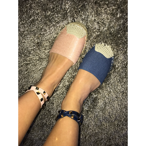 Nicola Studded Espadrilles - 2 Colours