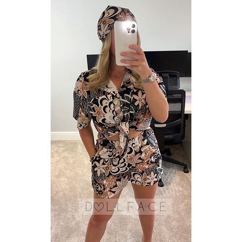 ELLA Two Piece Short Set (With Headband) - 3 Colours