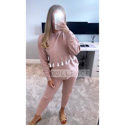 Kim Tassel Pink Loungewear