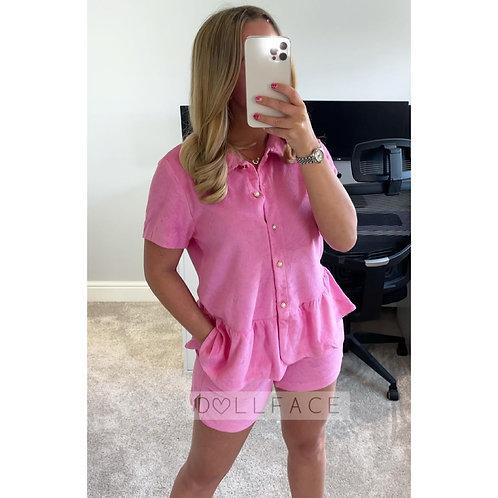 ELISA Towelling Short Set - 2 Colours