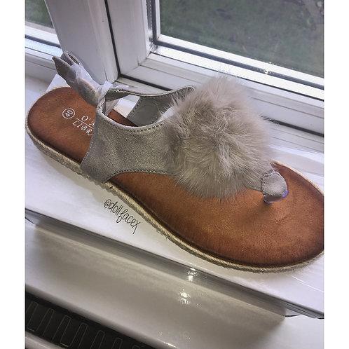 Freya Pom Pom Sandals