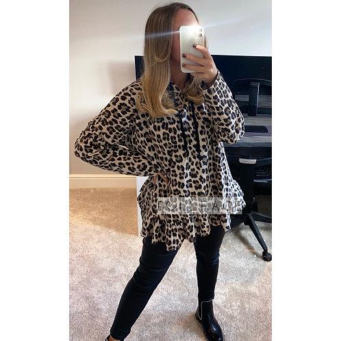 Mya Leopard Hoodie Top - 2 Colours