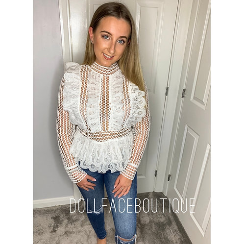 Doll White Lace Top