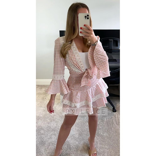 CALLIE Gingham Skirt Two Piece - 2 Colours