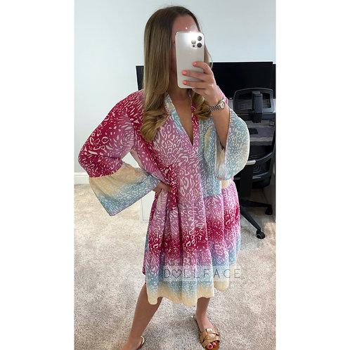 NAOMI Leopard Print Frill Dress