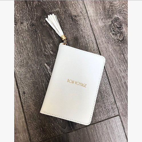 Slogan White Passport Cover