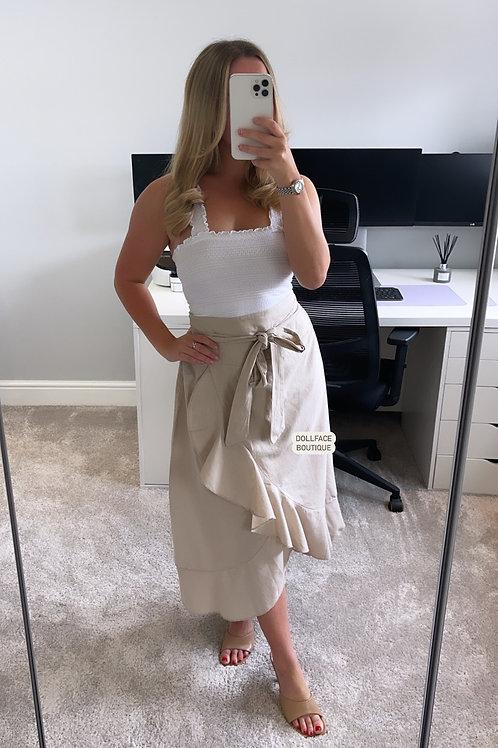 GIGI Linen Wrap Skirt