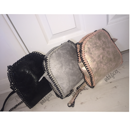 Poppy Shimmer Chain Clutch - 6 Colours