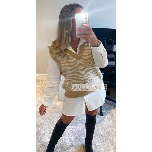 Nancy White Shirt Dress