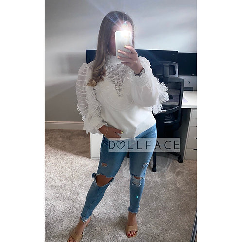 Alex White Blouse Jumper