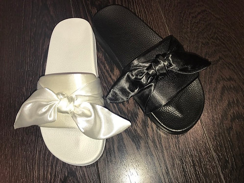 Lydia Satin Wrap Sliders - 2 Colours