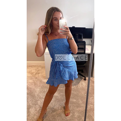 Josie Blue Patterned Dress