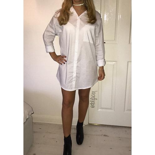 Gemma White Shirt Dress
