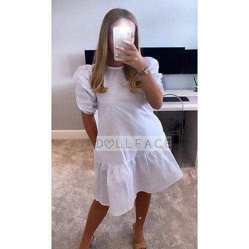 Talia Poplin White Dress