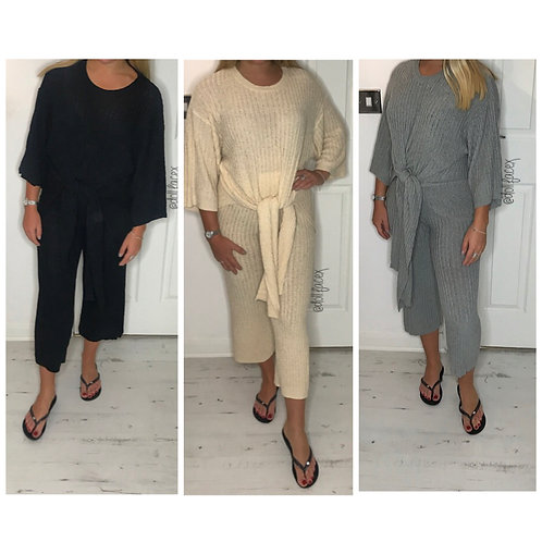 Cara Tie Up Loungewear - 3 Colours