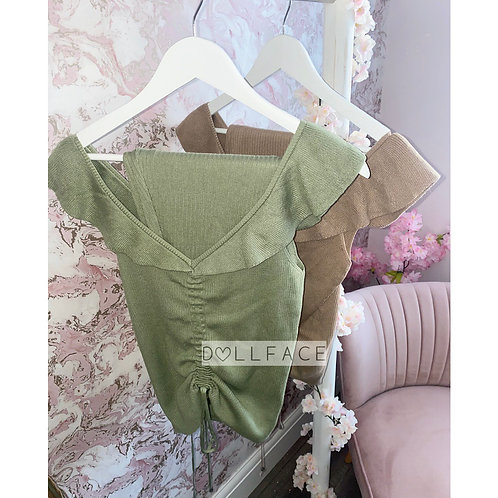 Darcy Olive Ruched Loungewear