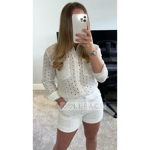TARA White Short Set