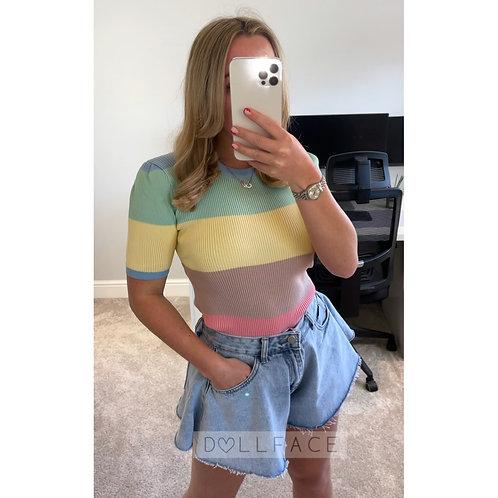 AMELIA Rainbow Top