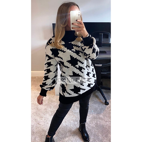 Paige White Dogtooth Jumper