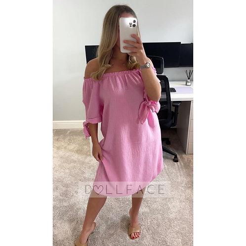 TIANA Bardot Cheesecloth Dress - 2 Colours