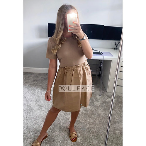 Olivia Beige T-shirt Dress