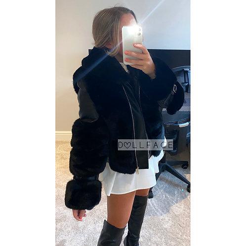 Mila Faux Fur Leather Jacket