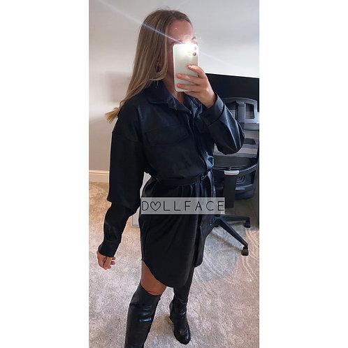 Lexi Faux Leather Dress - 2 Colours