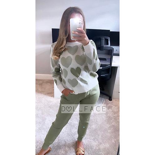 Lovey Olive Loungewear