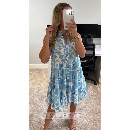 OLIVIA Print Swing Dress - 5 Colours