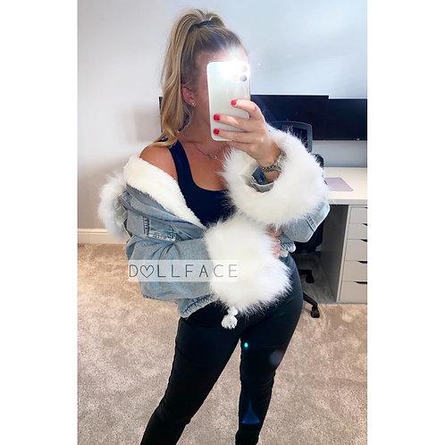 Olivia Denim Faux Fur Jacket