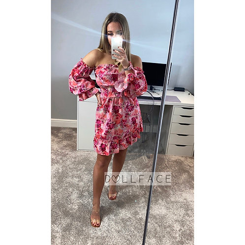Lily Floral Pink Dress