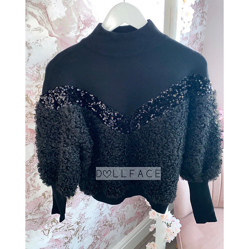 Amber Black Teddy Jumper