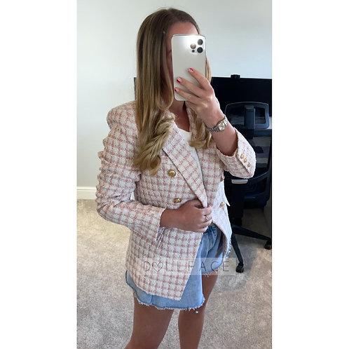 EVIE Pink Patterned Blazer