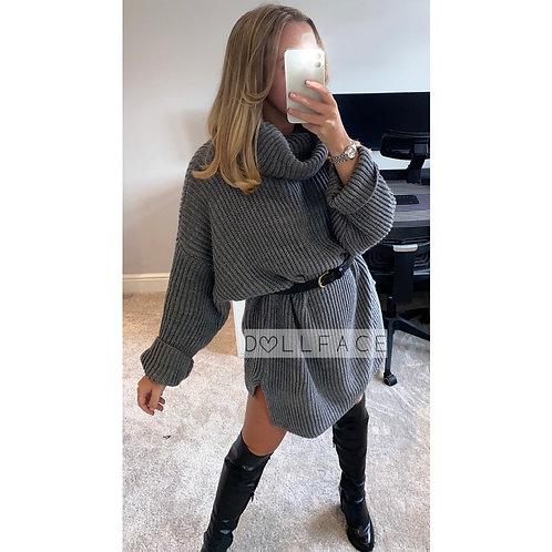 Joanna Chunky Knit Roll Neck