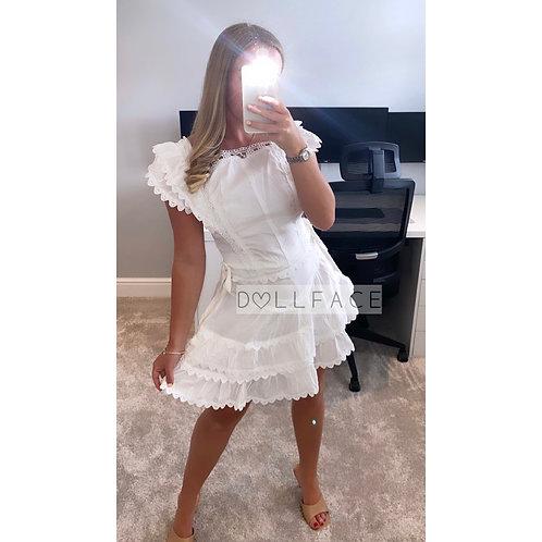 Eva White Short Set
