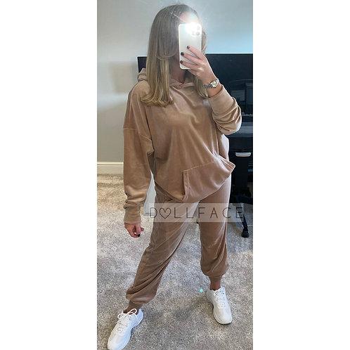 LEONA Velour Hooded Loungewear